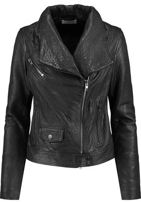 Vince Textured-Leather Biker Jacket