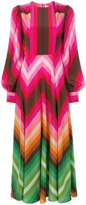Valentino chevron print long dress
