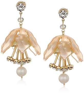 Badgley Mischka Womens Tulip Drop Earrings