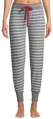 PJ Salvage On Holiday Striped-Jersey Jogger Pants