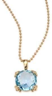 Anzie Dew Drop Sky Blue Topaz& 14K Yellow Gold Pendant Necklace