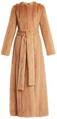 Brock Collection Freda Mink Fur Coat - Womens - Light Pink