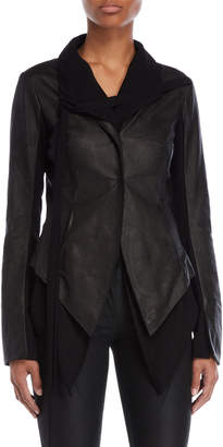 Masnada Layered Leather Jacket