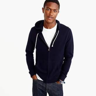 Italian cashmere full-zip hoodie $325 thestylecure.com
