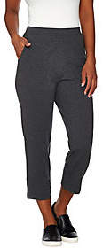 Denim & Co. Active Petite French Terry CropPants