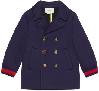 Children's jersey pea coat with Web $695 thestylecure.com