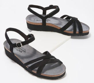 Naot Footwear Nubuck Leather Ankle Strap Sandals - Brittany