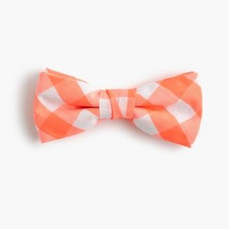 Boys' cotton bow tie in neon orange gingham $22.50 thestylecure.com