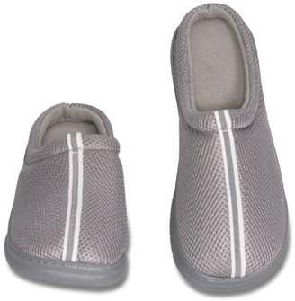 Deluxe Comfort Mens Memory Foam Slippers - Mens Breathing Mesh Slipper-Grey Mesh Fabric, 11-12