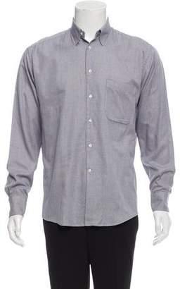 Giorgio Armani Gingham Button-Up Shirt