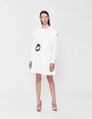 Tibi Edith Pleated Yoked Dress