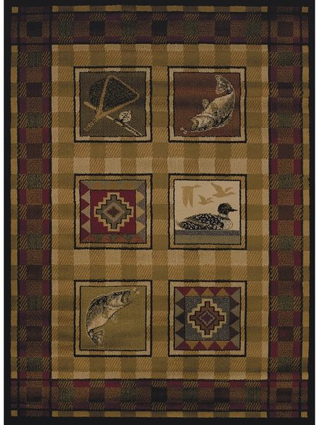 Westfield Home Harmony Kat Lodge Runner Rug (1'10 x 7'2)