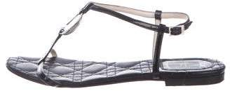 Christian Dior Patent Leather T-Strap Sandals