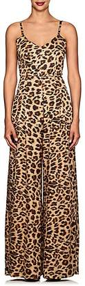 Azeeza Women's Leopard-Print Silk Wide-Leg Jumpsuit - Brn Leopard