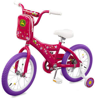 "John Deere Optimum Fulfillment Tomy 16""Girls Bicycle, Pink"