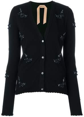 No.21 embellished V-neck cardigan