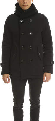 Warehouse Biography Hooded Double Breasted Coat