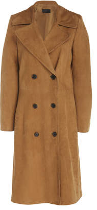 Nili Lotan Double Breasted Leather Trench Coat