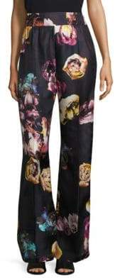 Max Mara Floral Silk Pants