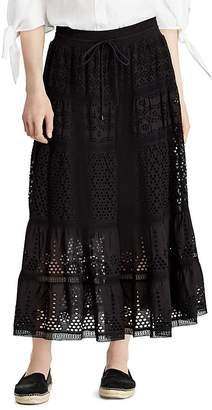 Lauren Ralph Lauren Mixed-Lace Maxi Skirt