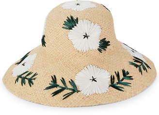 Gottex Punta Cana Embroidered Floral Sun Hat