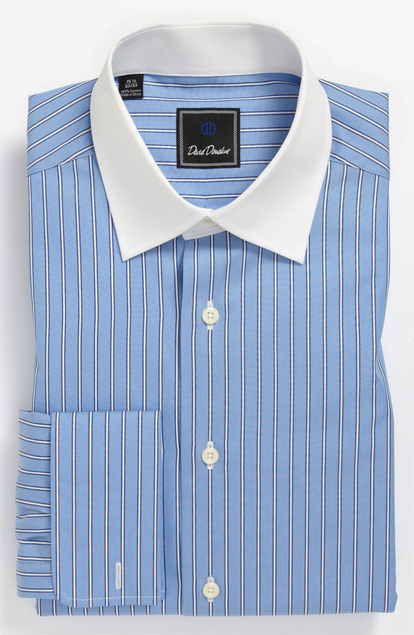 David Donahue Regular Fit Dress Shirt