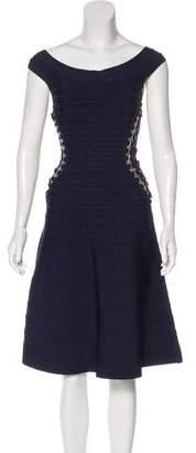 Herve Leger Alyse A-Line Dress