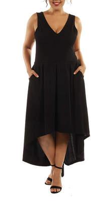 24/7 Comfort Apparel Enchanting Princess A-Line Dress-Plus