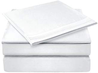 Glee&Cluster 4 piece Deep Pocket Bed Sheets Set Soft Brushed Microfiber Fade