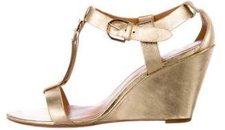 AERIN Metallic Wedge Sandals