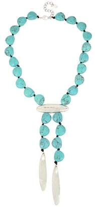 Robert Lee Morris Soho Turquoise Lariat Necklace, 16""