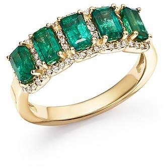 Bloomingdale's Emerald and Diamond Ring in 14K Yellow Gold - 100% Exclusive