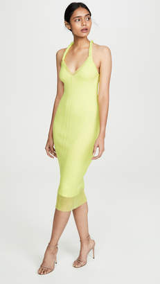 Dion Lee Sheer Pleat Twist Tank Dress