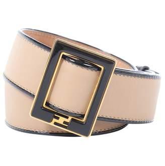 Fendi Beige Leather Belts