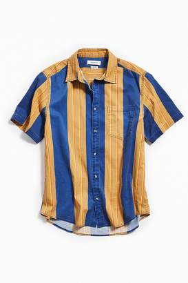 Urban Outfitters '90s Vertical Stripe Short Sleeve Button-Down Shirt