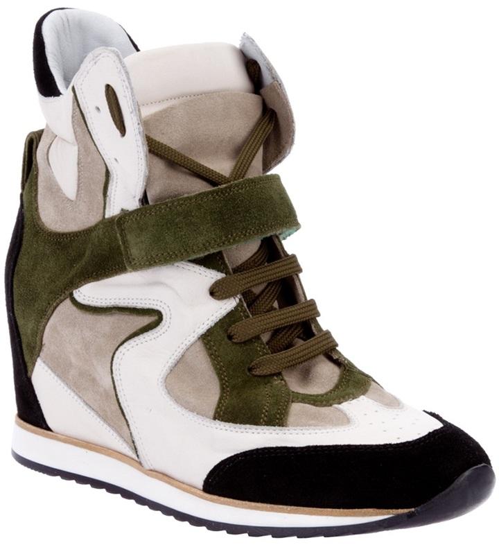 Elena Iachi hidden wedge sneaker