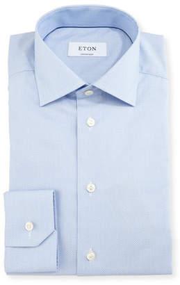 Eton Contemporary-Fit Micro-Pattern Brocade Dress Shirt