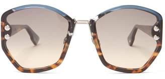 Christian Dior Dioraddict2 Acetate Sunglasses - Womens - Tortoiseshell
