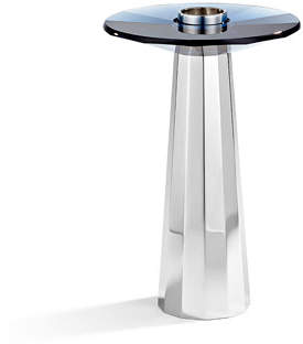 Swarovski Medium Plinth Candleholder, Montana Blue