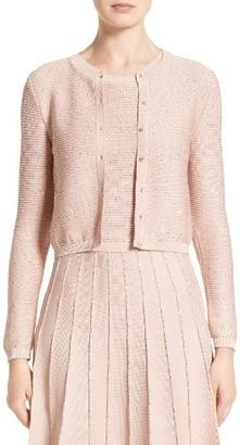 Women's Oscar De La Renta Sparkle Knit Crop Cardigan $1,790 thestylecure.com
