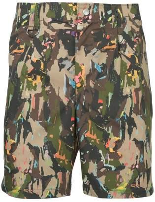 Roar camouflage print shorts