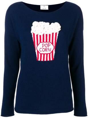 Allude popcorn intarsia jumper
