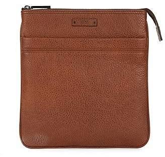HUGO BOSS Cross-body envelope bag in grainy Italian leather