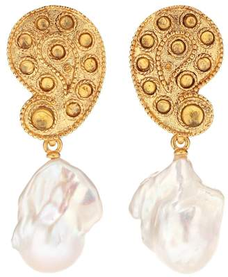 Oscar de la Renta Baroque pearl clip-on earrings