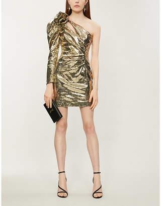 Dundas One-shoulder sequinned dress