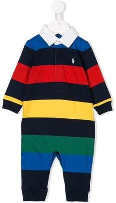 Ralph Lauren Kids colour block striped romper
