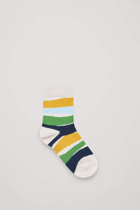 Cos 2-PACK DOT AND STRIPED SOCKS