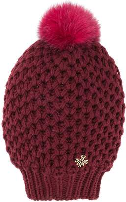 Mr & Mrs Italy fur pompom knitted beanie