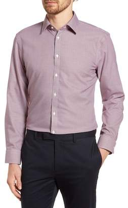 Nordstrom Smartcare(TM) Extra Trim Fit Houndstooth Dress Shirt