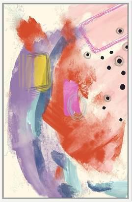 Jonathan Bass Studio Abstract Pastels (Framed Canvas)